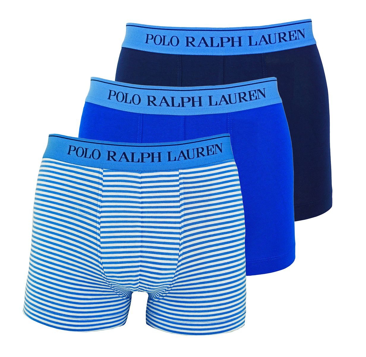 Ralph Lauren 3er Pack Boxershorts Trunks Spring1UDW NAVY/BLUE STRIPE/SAPPHIRE W18-US1