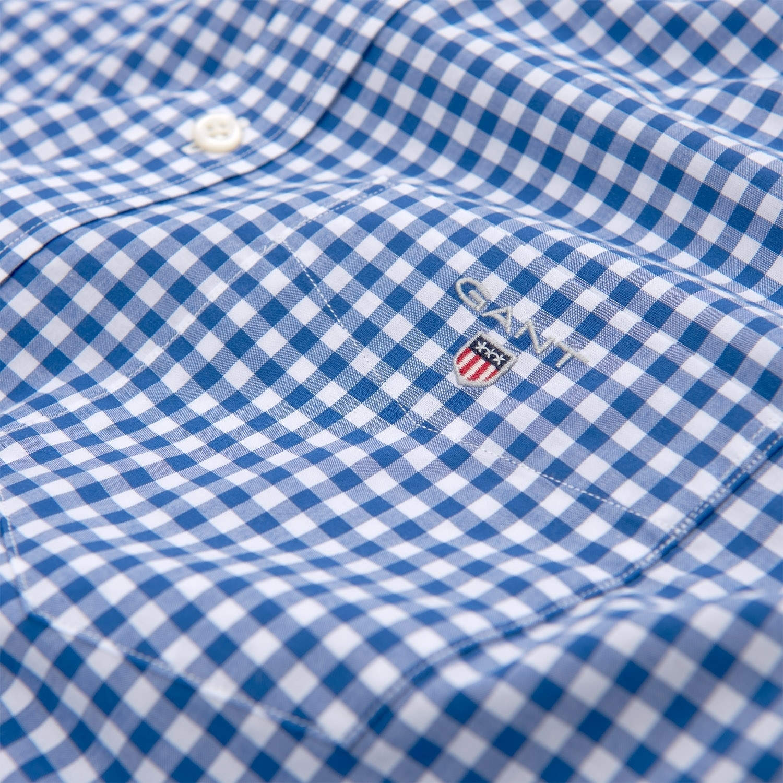 Gant Hemd Herrenhemd THE BROADCLOTH GINGHAM REG BD 3046700 COLLEGE BLUE SH18-GHH1