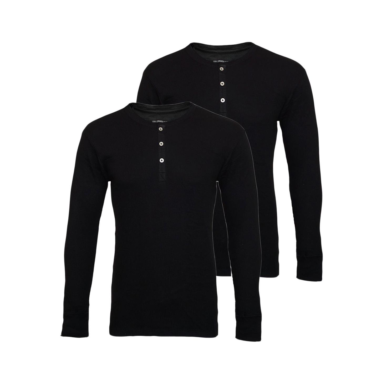 LEVIS Shirts 2er Pack Henley Longsleeve Shirt Jet Black 961023001 884 SF17-LVLV2