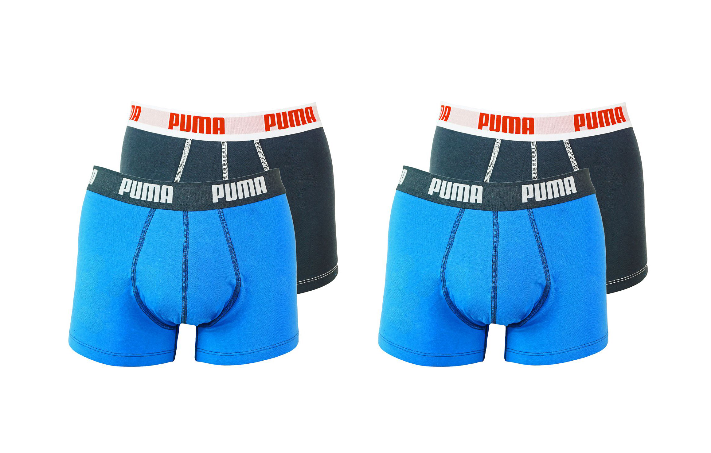 PUMA Shorts Unterhosen 2 x 2er Pack Trunk 521025001 056 020 blue SF17-PMS2