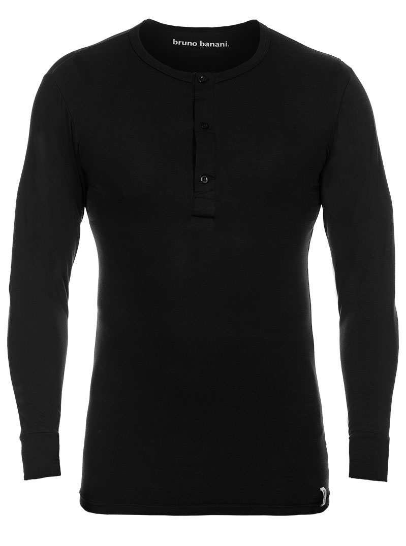 Bruno Banani Longsleeve Shirt schwarz Rundhals BB16 1342 2202 007Z