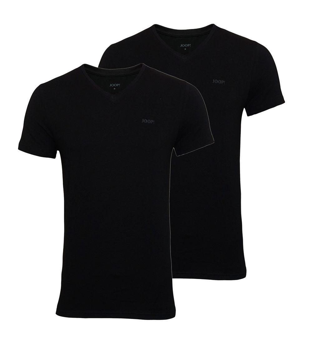 JOOP 2er Pack T-Shirts Shirts V-Ausschnitt 10001475 schwarz WF17-JOT1