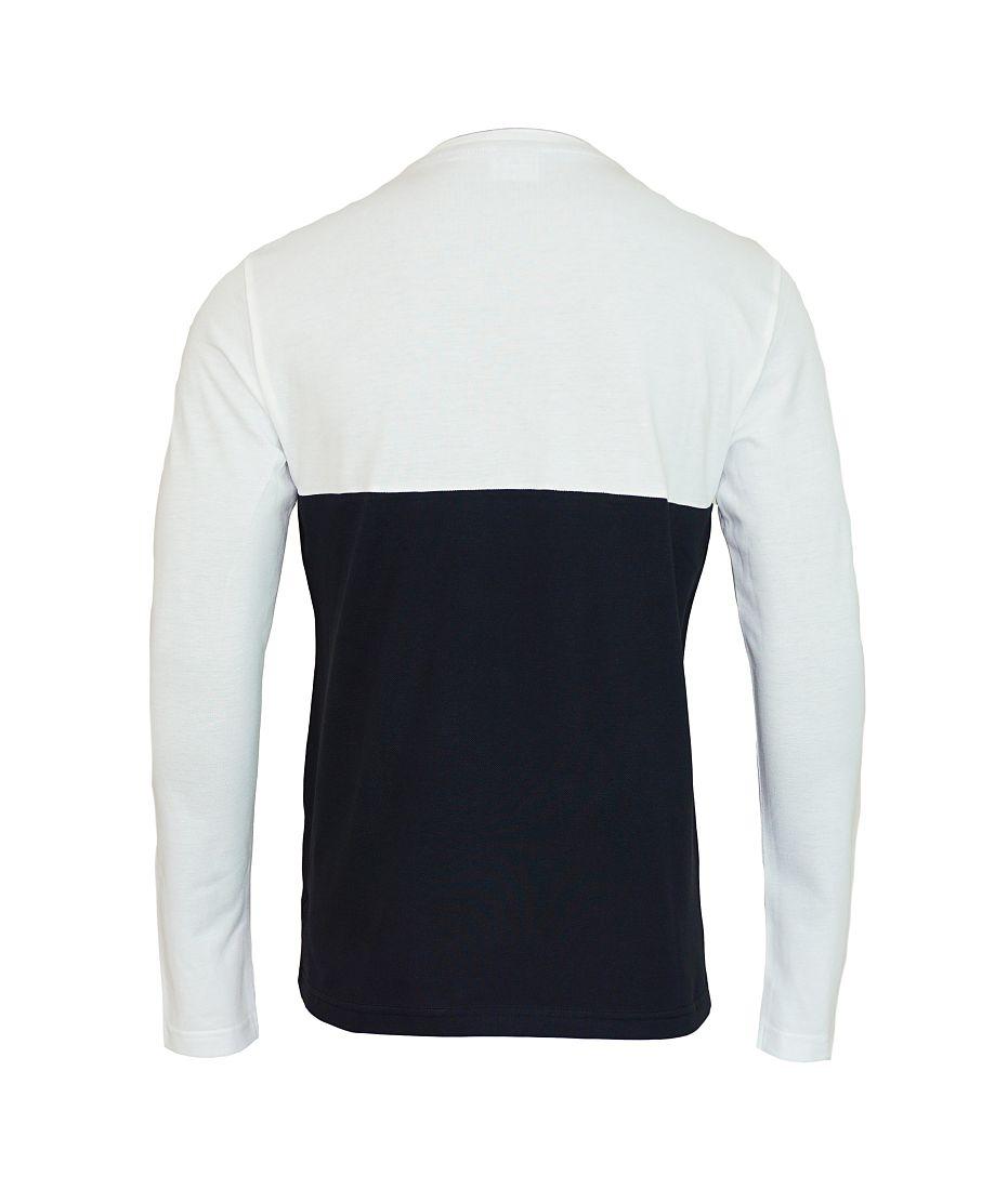 EA7 Emporio Armani Shirt Polo Longsleeve 6XPTC8 PJ32Z 21BA white black HW16P1
