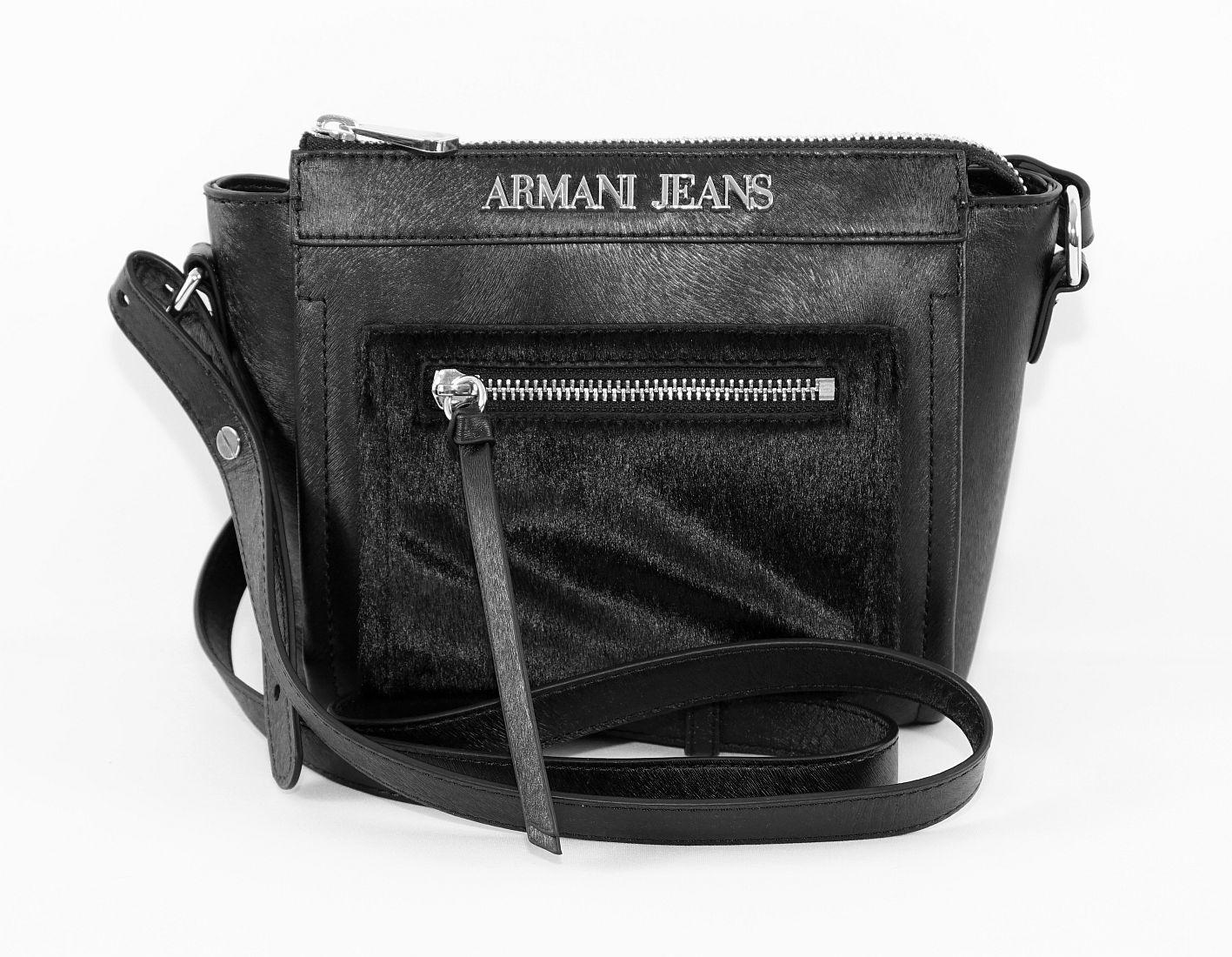 Armani Jeans Handtasche Shopper Tasche WOMEN'S SLING BAG 922104 6A728 00020 Nero HW16-1