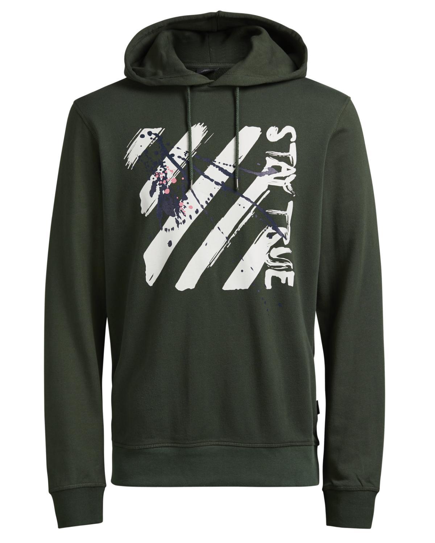 Jack & Jones Hoodie Sweater Pullover JORSPACED SWEAT HOOD thyme 12116946 WF16-JJ1