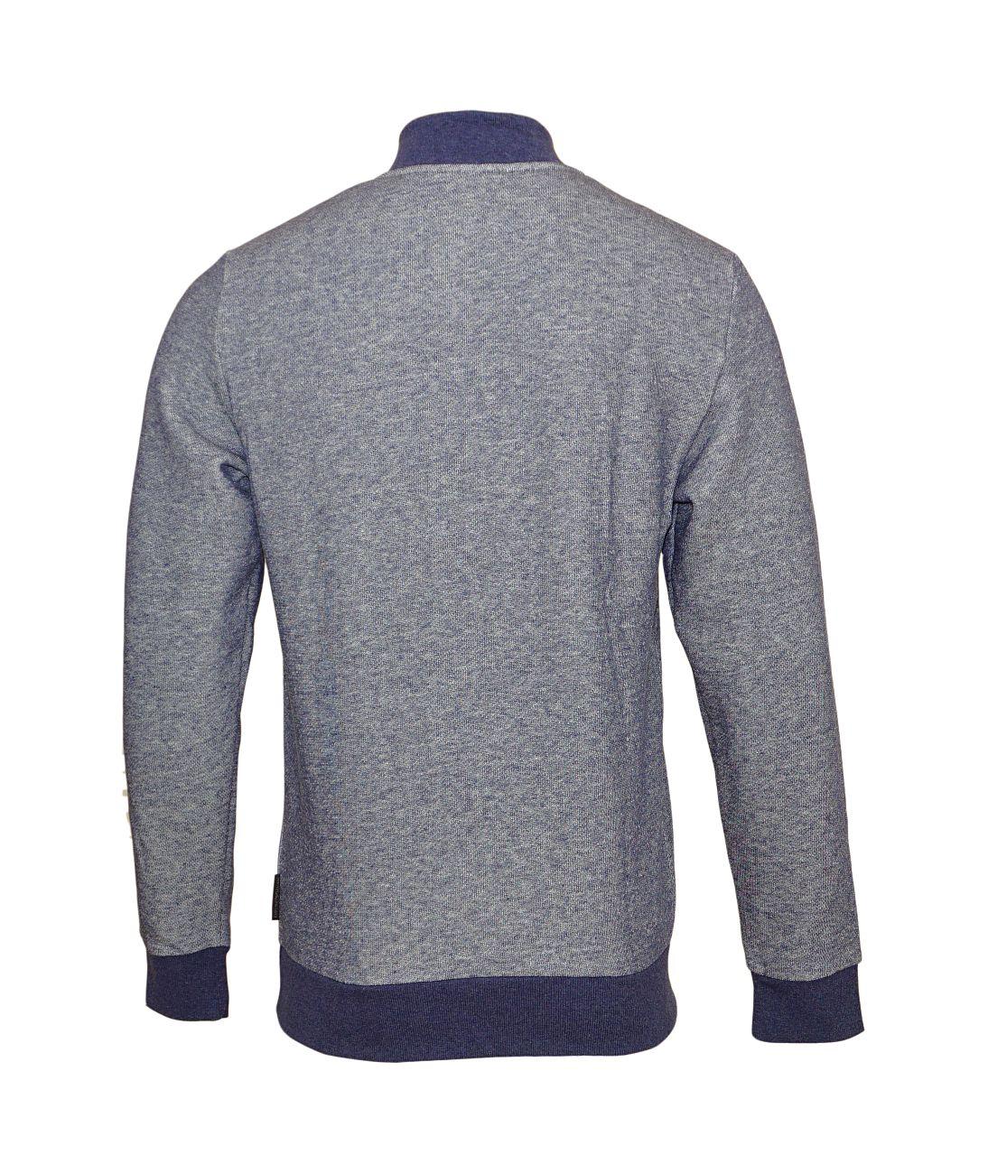 Emporio Armani Pullover Sweater Zip 111704 8A575 52635 BLU MELANGE WX18-EAS