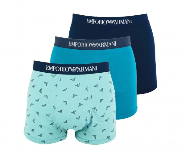 Emporio Armani 3er Pack Trunk Shorts 111625 0P722 19534 navy, gree, turquise WF20-AR2