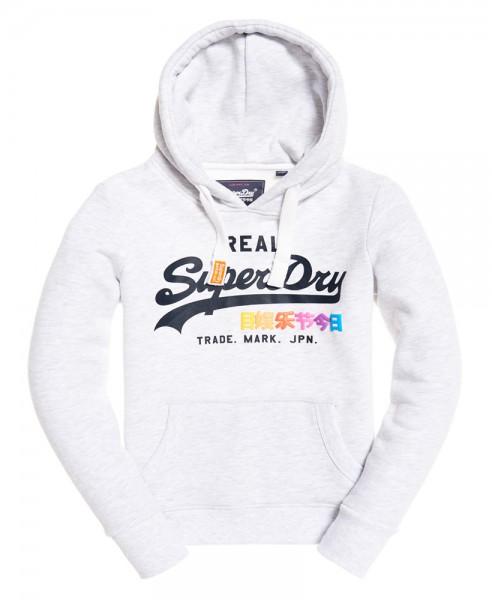 Superdry Damen Sweater Vintage Logo Pop Entry Hood G20014NS Ice Marl 54g WJ19-SDS1
