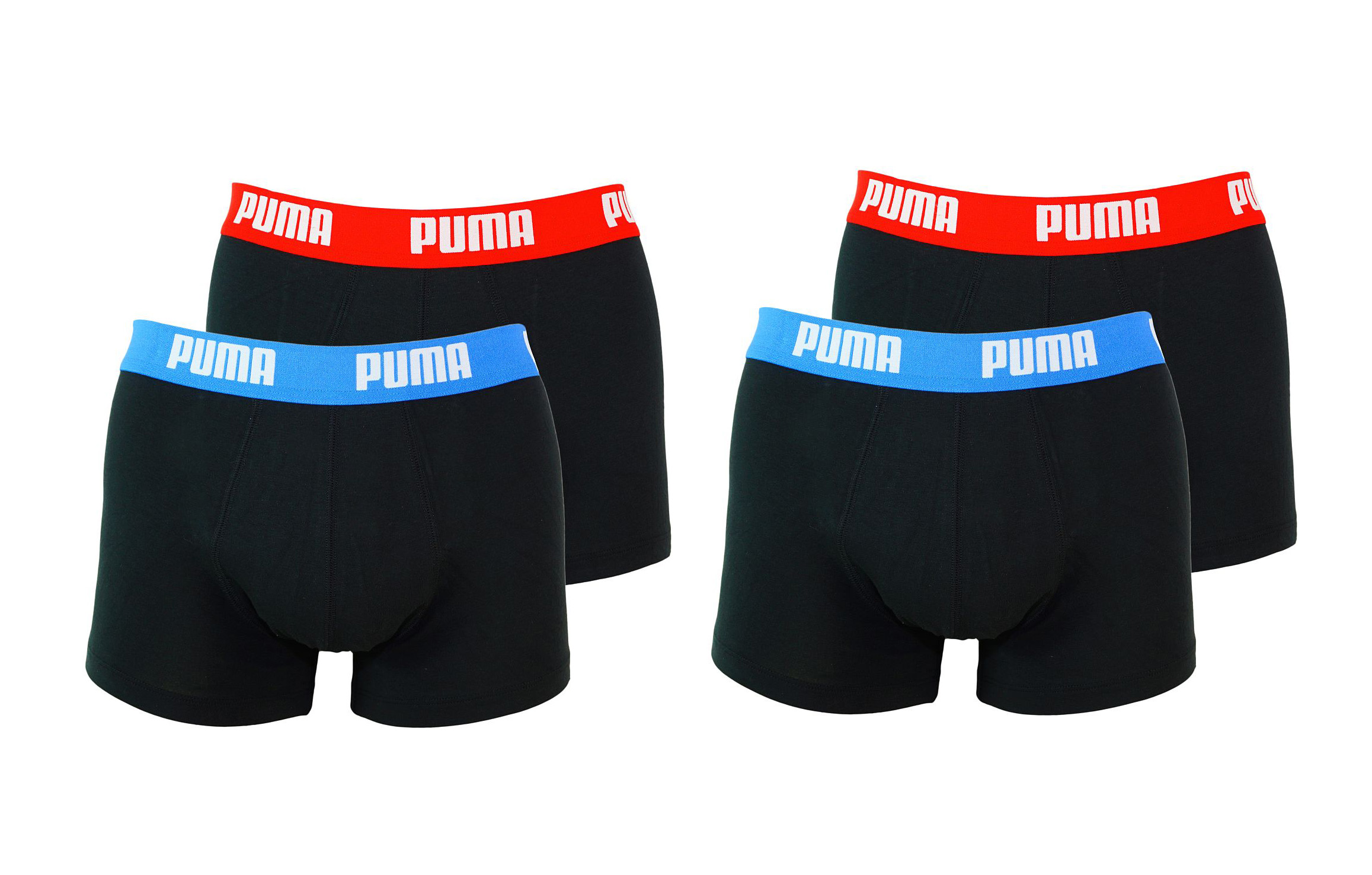 PUMA Shorts Unterhosen 2 x 2er Pack Trunk 521025001 505 020 red, blue SF17-PMS2