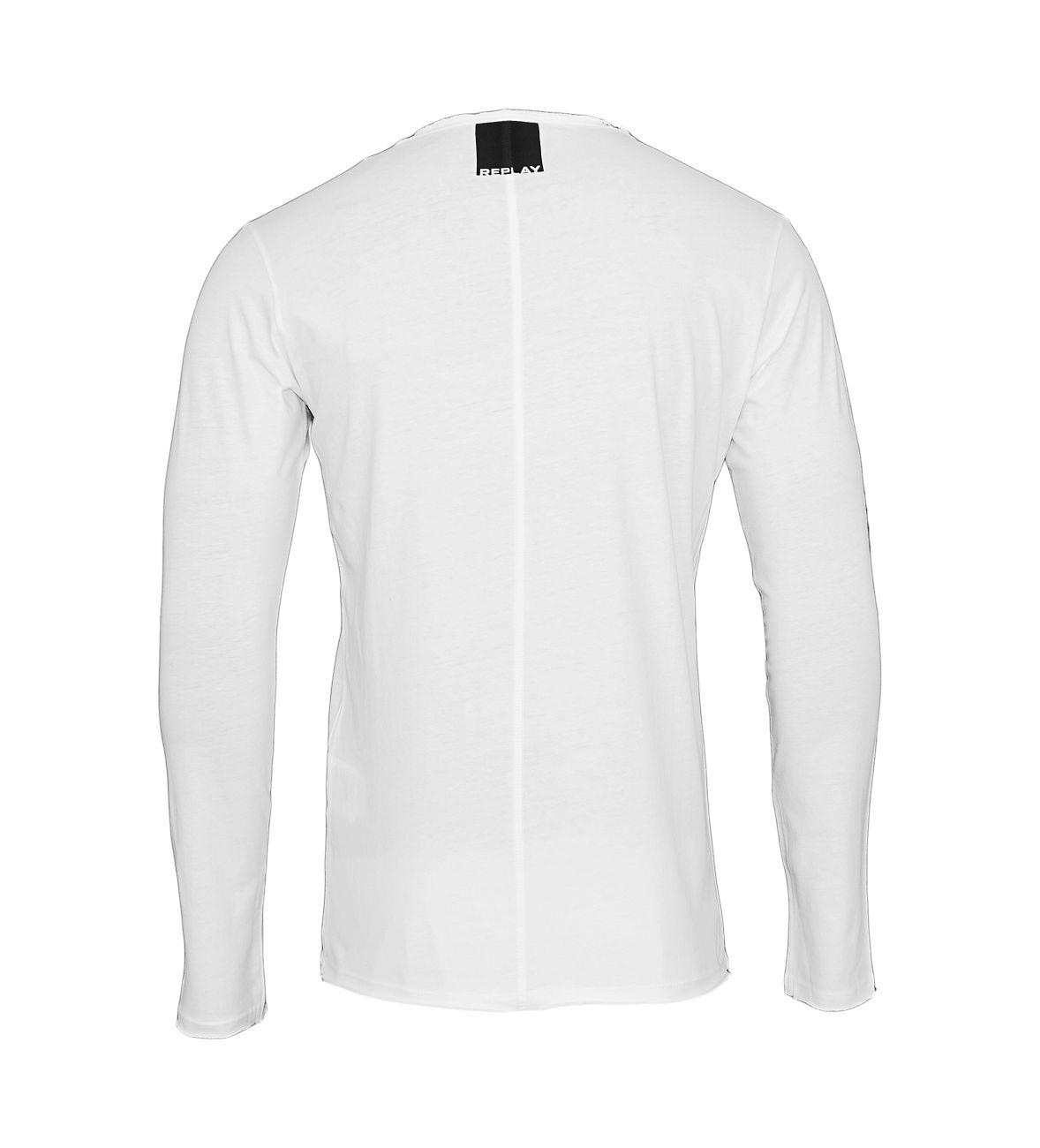 Replay Longsleeve Shirt Rundhals M3592.000 2660.001 white S18-RPLS1