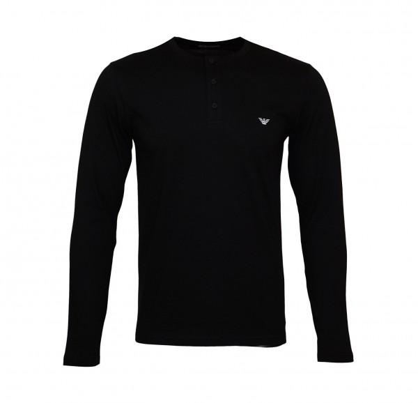 Emporio Armani Sweater Henley 111817 9A576 00020 black SH19-EAX2