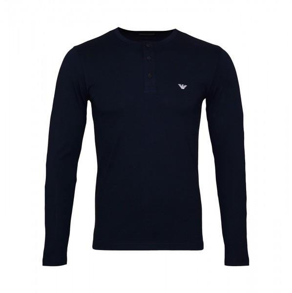 Emporio Armani Sweater Henley 111817 9A576 00135 navy SH19-EAX2