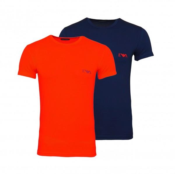 Emporio Armani 2er Pack T-Shirt Crew-Neck 111670 0P715 18335 navy, red WF20-EA1