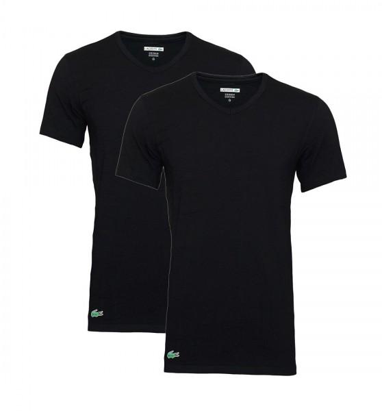 Lacoste 2er Pack T-Shirts V-Ausschnitt 148322 schwarz black