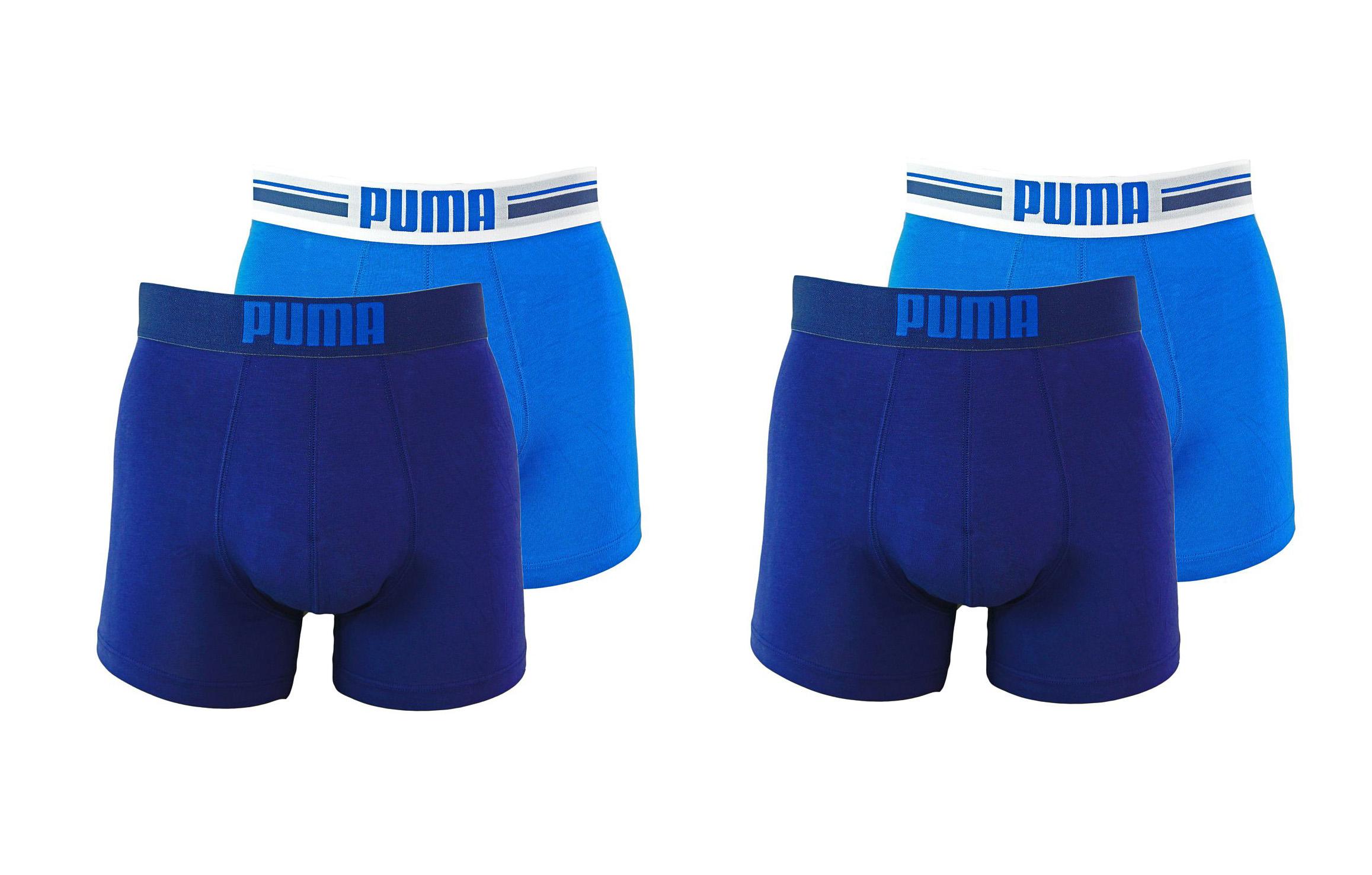 PUMA Shorts Unterhosen 2 x 2er Pack Boxer 651003001 056 020 blue SF17-PMS2