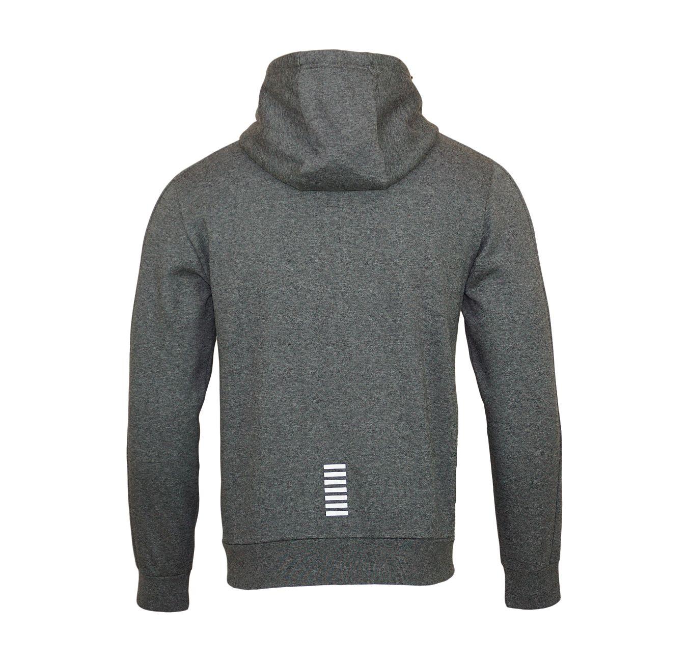 EA7 Emporio Armani Sweatshirt Jacke Hoodie 6YPM59 PJ07Z 3925 Dark Grey Melange SH18-EA7S