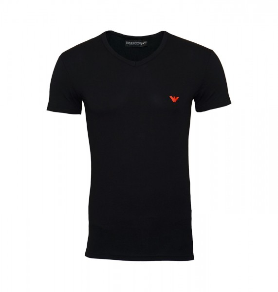 Emporio Armani T-Shirt V-Neck 110810 9P723 00020 schwarz FS19-EAT1