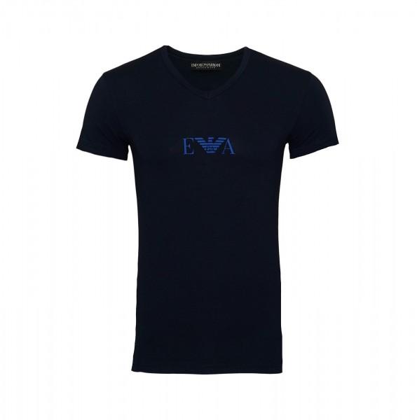 Emporio Armani T-Shirt V-Ausschnitt V-Neck 110810 9A715 00135 navy SS19-EAT1