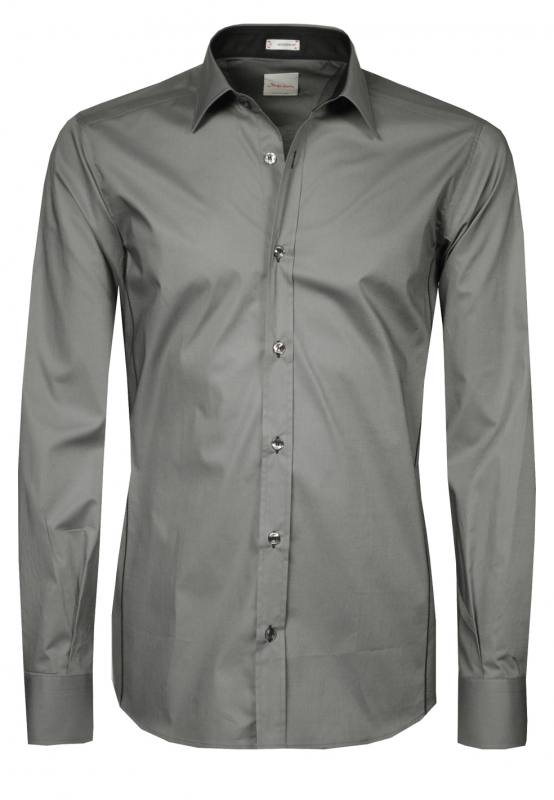Signum Hemd Herrenhemd Business-Hemden 999115105 stone grey WF17-SIBH1