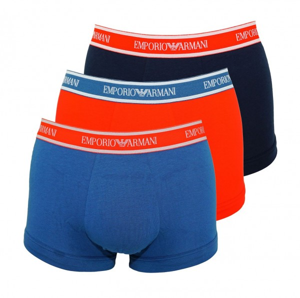 Emporio Armani 3er Pack Trunks Shorts 111357 9P717 25733 COBALTO/ROSSO/MARINE W19-EAT1