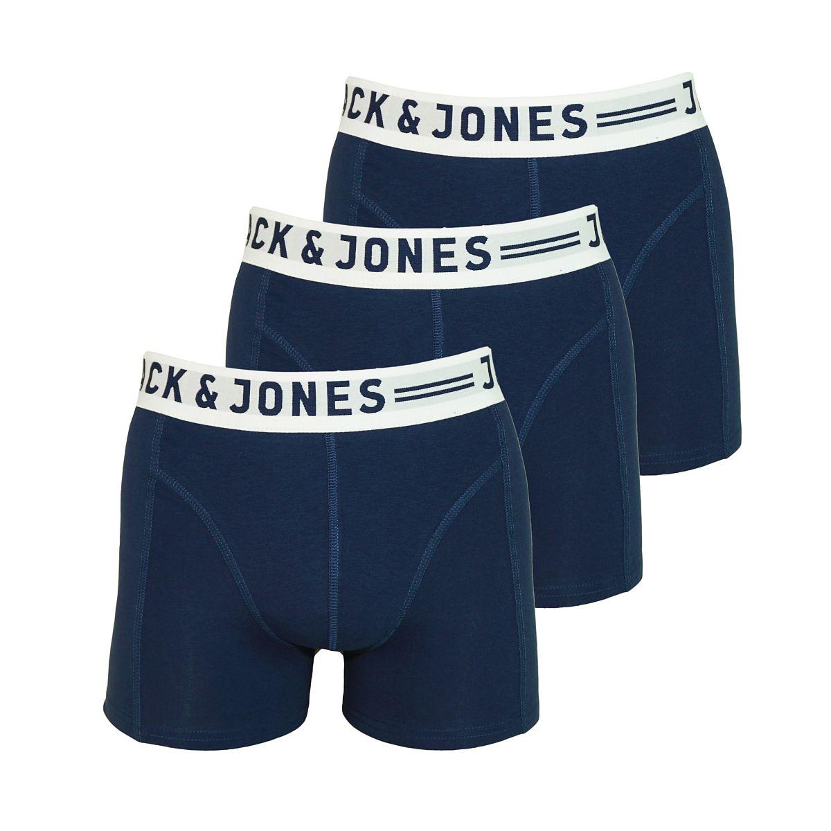 Jack & Jones 3er Pack Boxershorts Shorts Sense Trunks Noose JJ16 navy