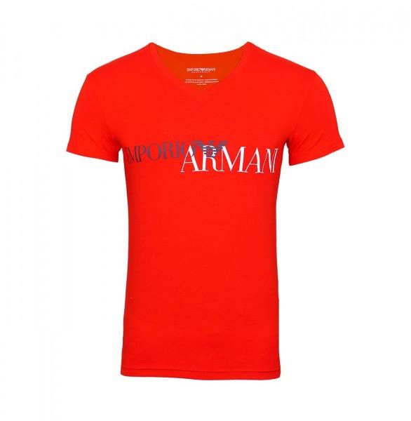Emporio Armani T-Shirt V-Ausschnitt 110810 9P516 00074 red WF19-EAT3