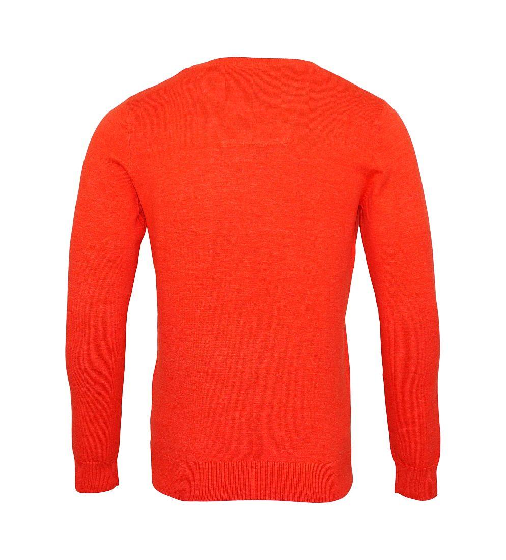Tom Tailor Pullover Sweater Strickpullover V-Ausschnitt guava red melange 3021321 0910 4754 WF17-J1