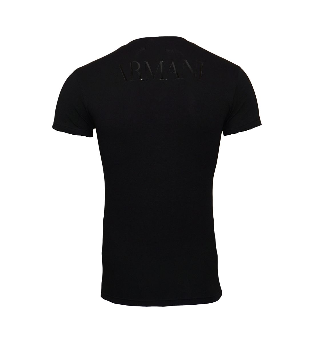 Emporio Armani T-Shirts V-Ausschnitt 110810 8P516 00020 NERO W18-EATS1