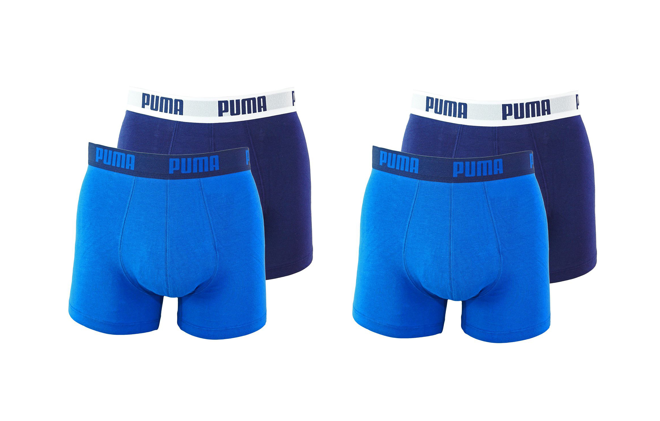 PUMA Shorts Unterhosen 2 x 2er Pack Boxer 521015001 420 020 true blue SF17-PMS2