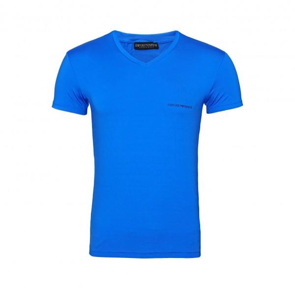 Emporio Armani T-Shirt V-Neck 110810 9P719 24433 blau FS19-EAT1