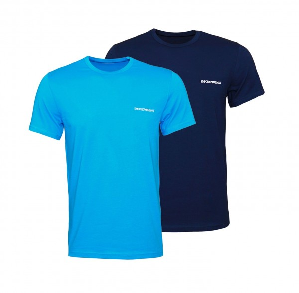 Emporio Armani 2er Pack T-Shirt Crew-Neck 111267 0P717 67035 navy, blue WF20-EA1