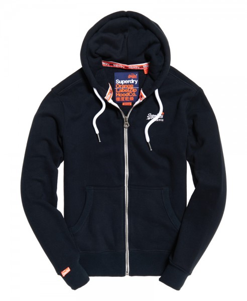 Superdry Herren Sweatjacke Label Ziphood M20007NS Eclipse Navy 98t WJ19-SDJ1