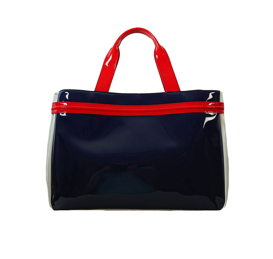 Armani Jeans Tasche Borsa Shopping 922548 CC852 39635 Blu Bianco Ger Handtasche S17-AJT1