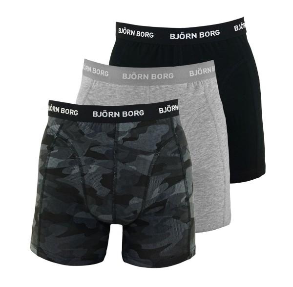 Björn Borg 3er Pack Boxer Boxershorts 9999-1132 90651 black, grey HW19-BB1