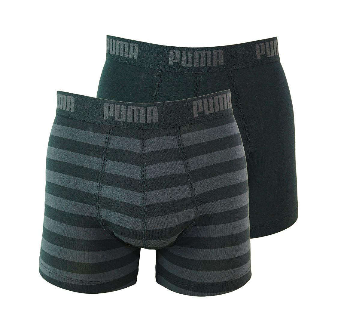 PUMA Shorts Unterhosen 2er Pack Boxer 651001001 200 020 black SF17-PMS1