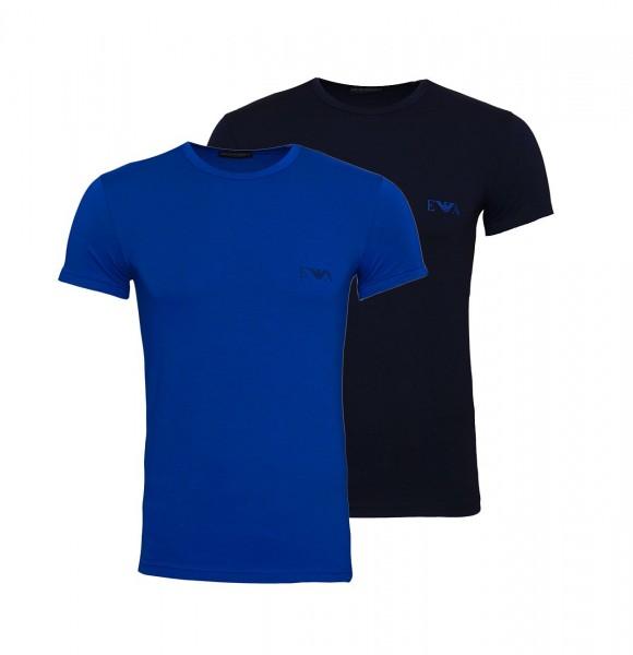 Emporio Armani 2er Pack T-Shirt Crew-Neck 111670 9A715 61535 blue, navy SH19-EAX1