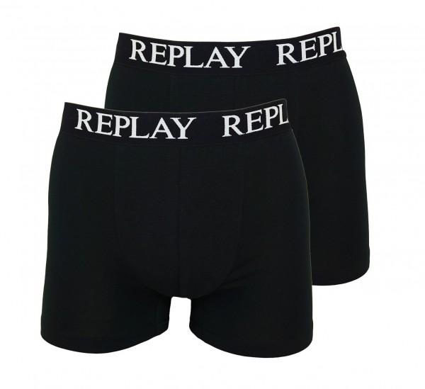 Replay 2er Pack Boxer Shorts Unterhosen I101005-V001 N011 black WF19-RPT1