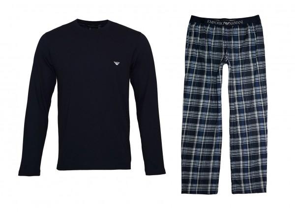 Emporio Armani Pyjama Shirt + Hose 111791 9P567 57735 SCOZZESE MARINE SS19-EAL1