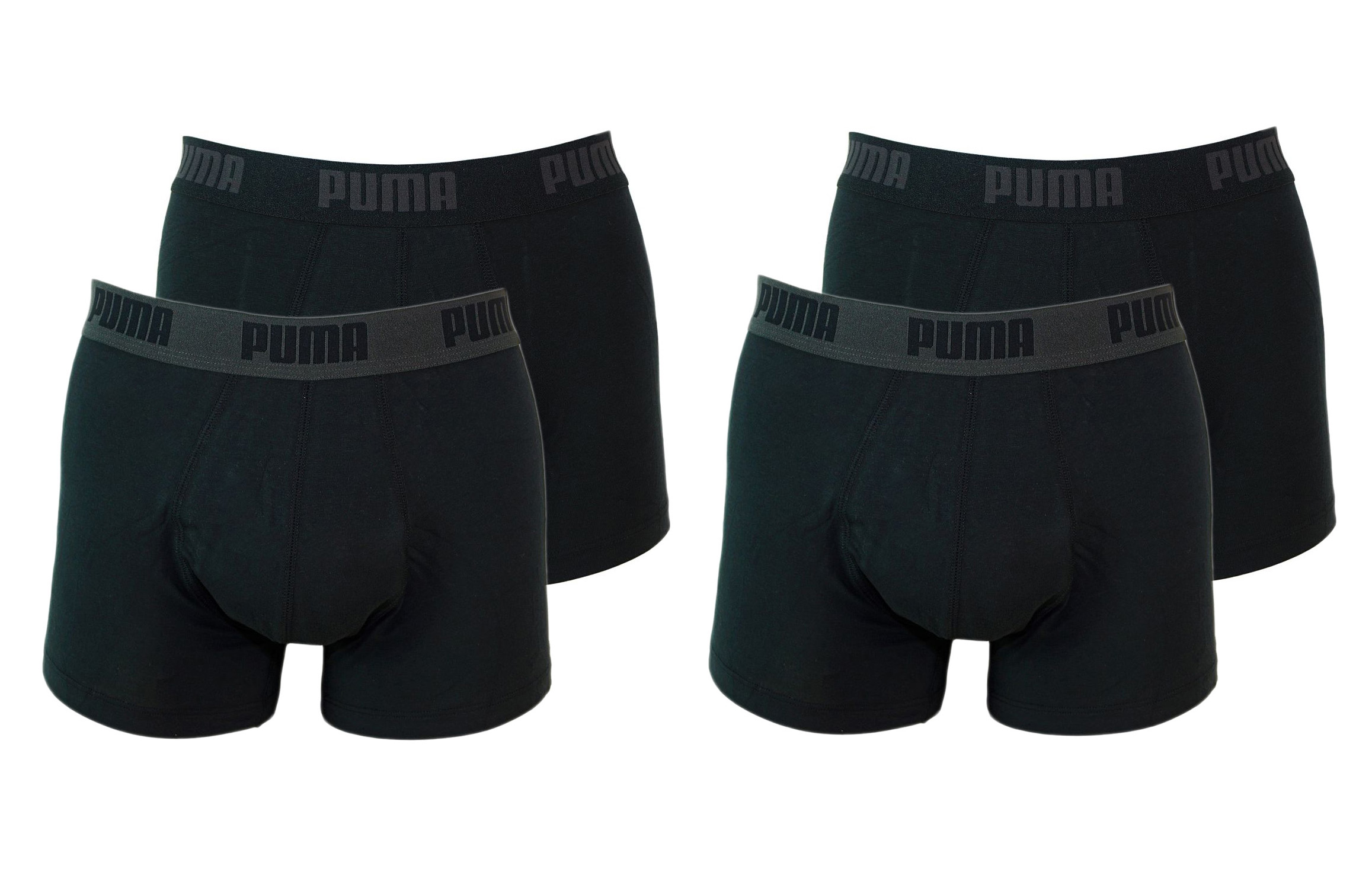 PUMA Shorts Unterhosen 2 x 2er Pack Trunk 521025001 230 020 black SF17-PMS2