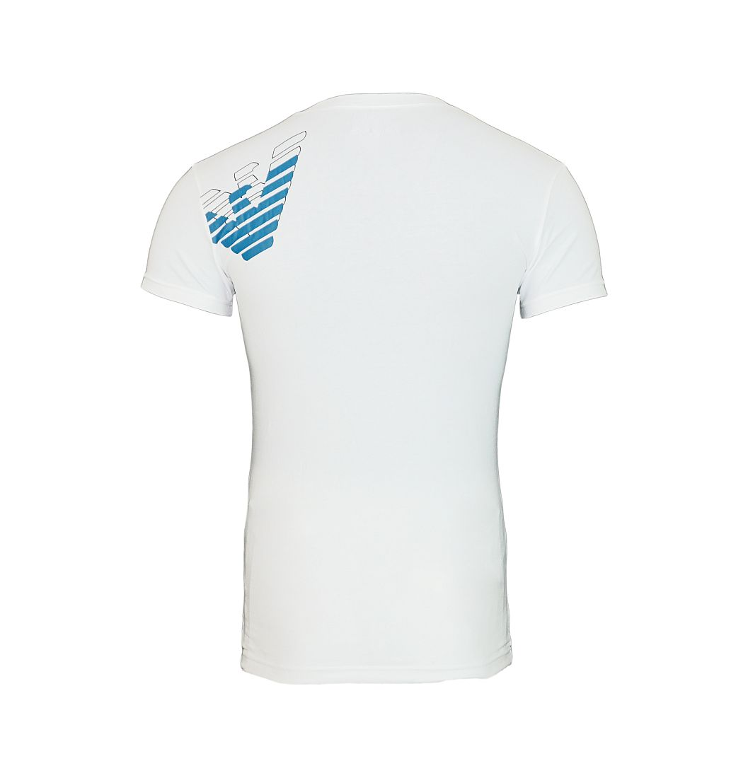 Emporio Armani T-Shirts V-Ausschnitt 110810 7A725 00010 BIANCO SH17-EATS1