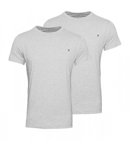 Replay 2er Pack T-Shirts Regular Fit M3588 22602 030 GREY MELANGE WJ19-RPS1