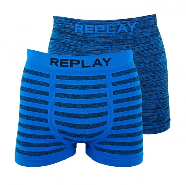 Replay 2er Pack Boxer Shorts Unterhosen I101012-001 N148 blue WF19-RPT3