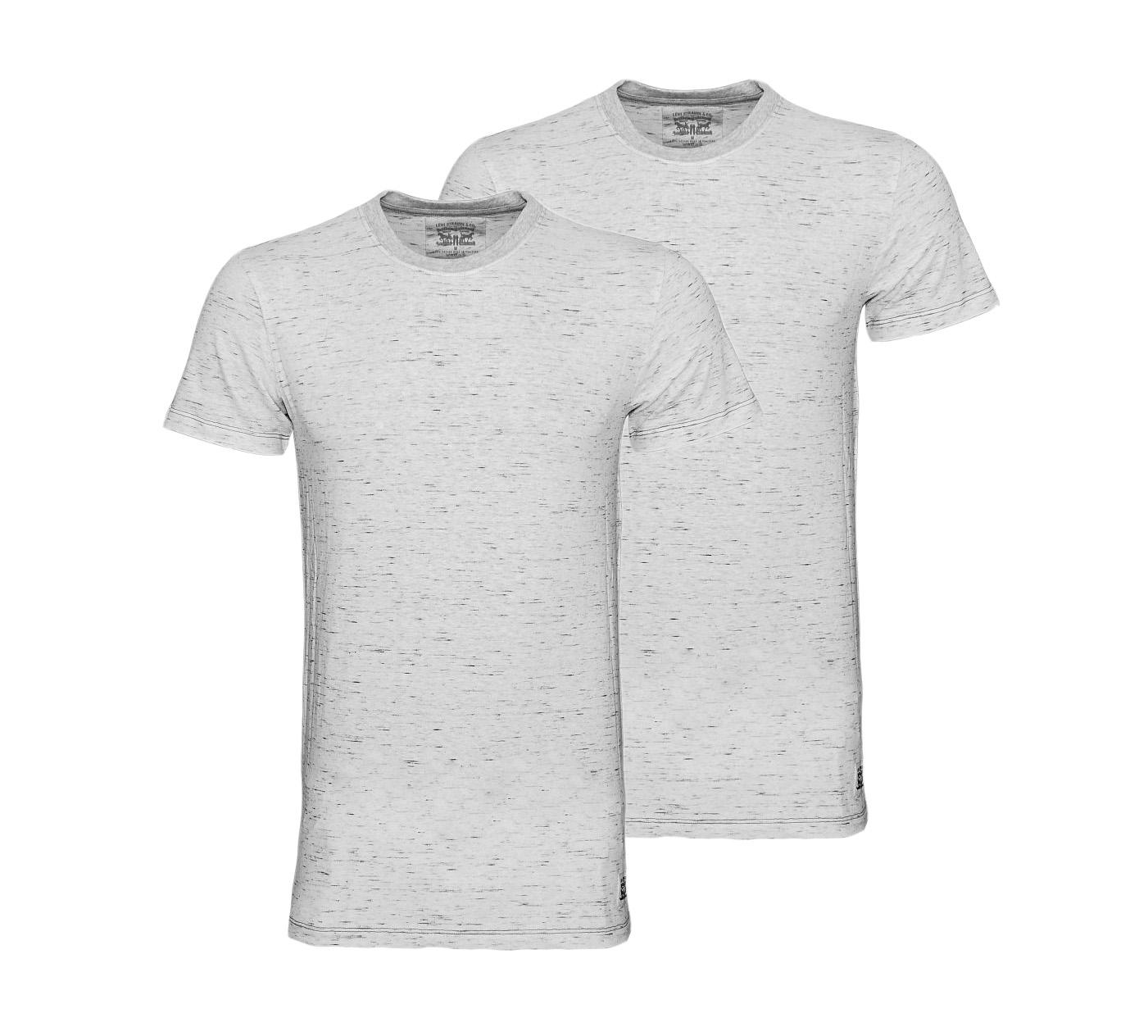 LEVIS Shirts 2er Pack T-Shirt 972001001 032 grey melange SF17-LVSS2
