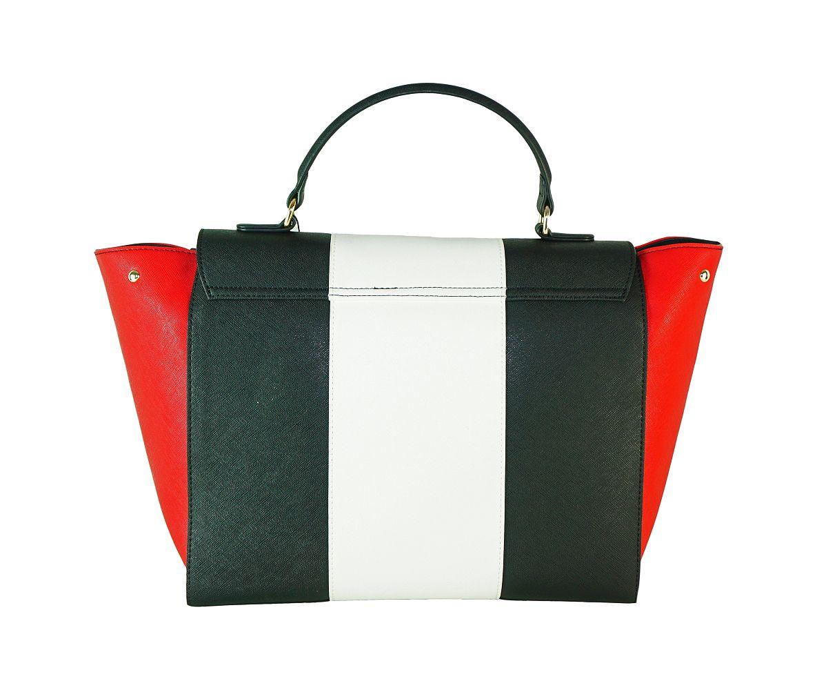 Armani Jeans Tasche Borsa Top Handle 922562 CC857 45420 Nero Bianco Ge Handtasche S17-AJT1