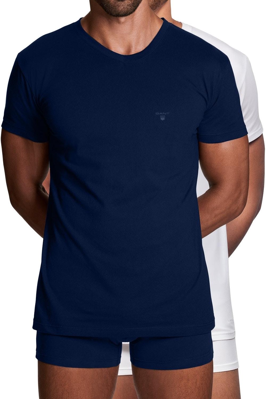 Gant 2er Pack Basic T-Shirts mit Rundhals 2108 NAVY / WHITE SH18-GT1