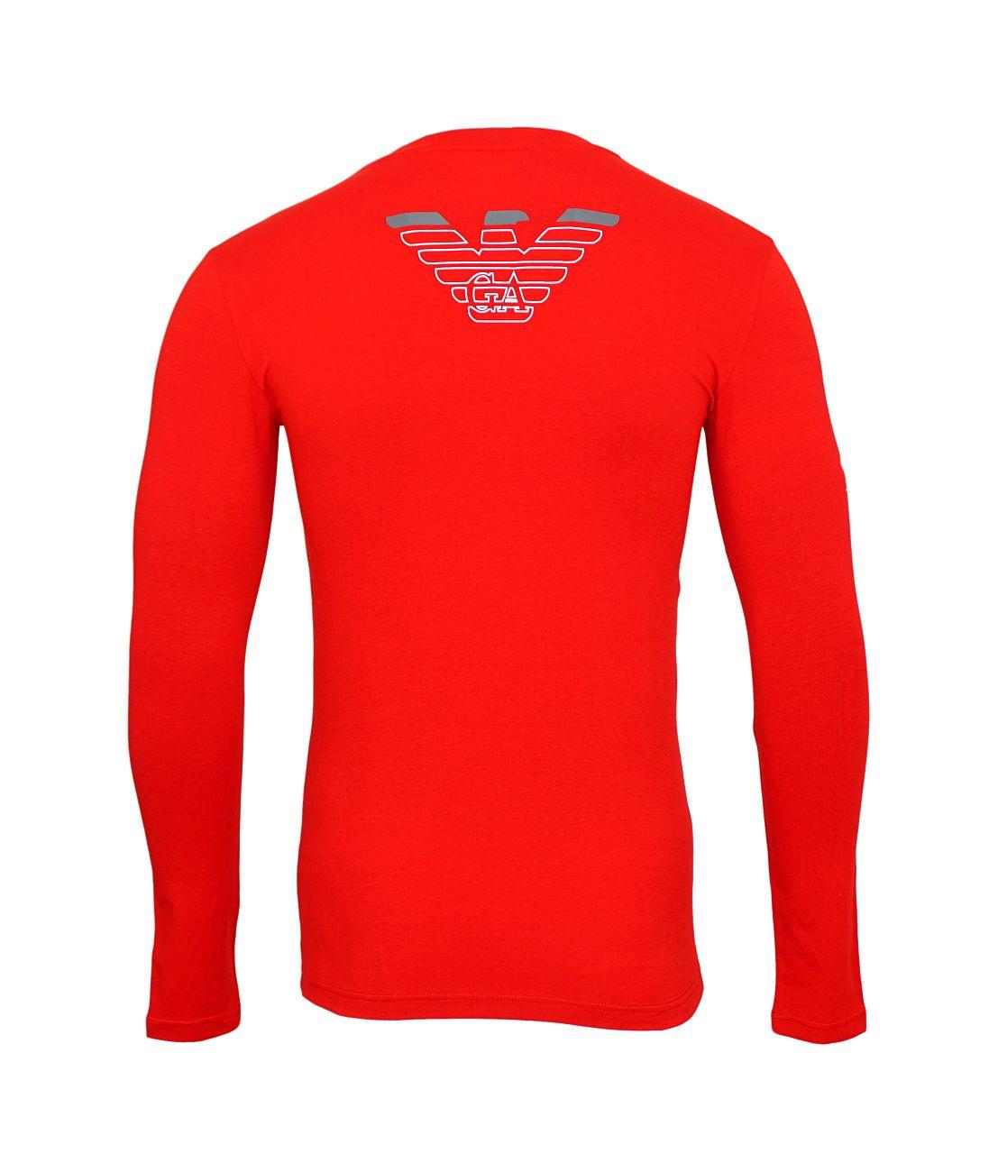 Emporio Armani Longsleeve Rundhals Shirt 111023 8A725 13174 RUBINO WX18-EAL