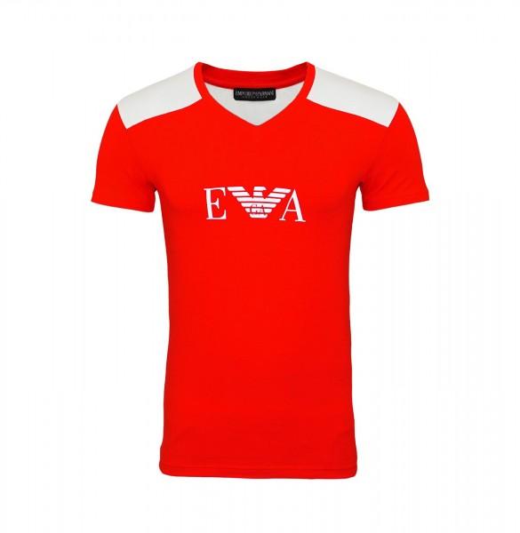 Emporio Armani T-Shirt V-Neck 111815 9P529 00074 rot FS19-EAT1