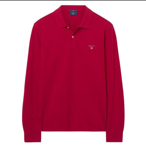 Gant Poloshirt Langarm THE ORIGINAL PIQUE LS RUGGER RED 5201 SH18-GP