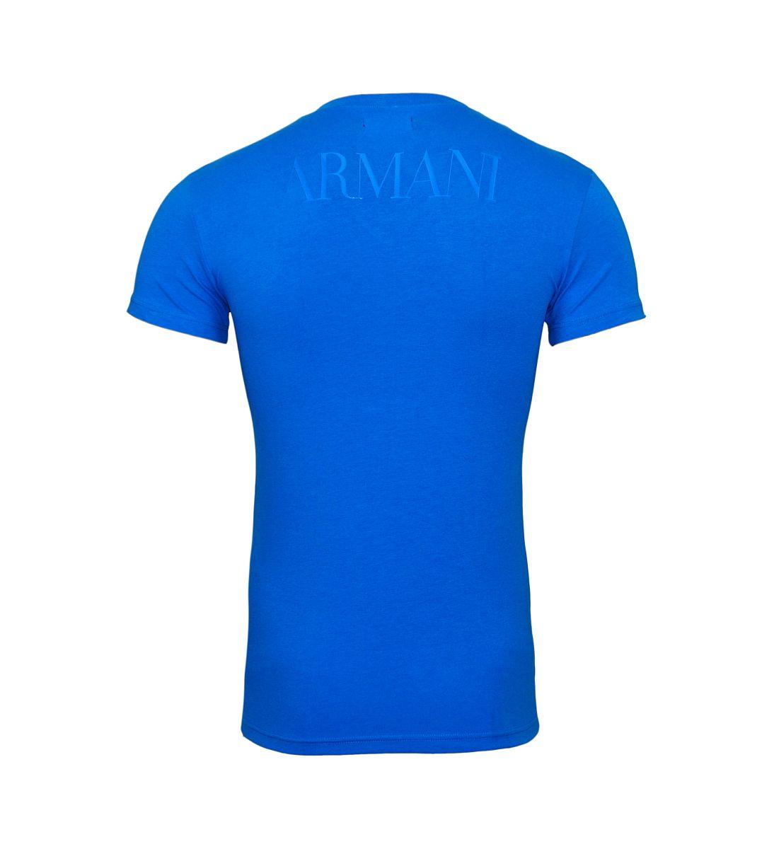 Emporio Armani T-Shirts V-Ausschnitt 110810 8P516 20833 CIELO W18-EATS1