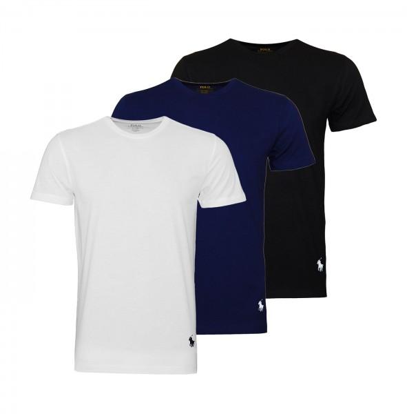 Ralph Lauren 3er Pack T-Shirts R-Neck 71470927 4006 black, navy, grey WF20-RL2